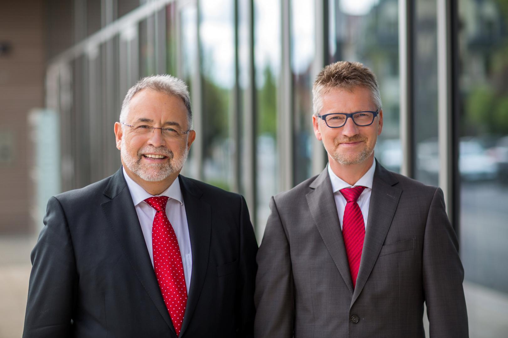Dr. Peter Traut und Dr. Ralf Pieterwas